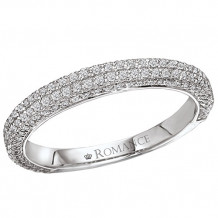 Romance 18k White Gold Diamond Diamond Wedding Band