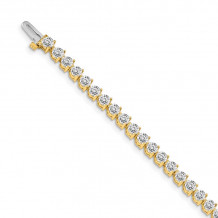 Quality Gold 14k Yellow Gold VS Diamond Tennis Bracelet - X2842VS