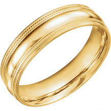 Stuller 14k Yellow Gold Coin Edge Design Wedding Band