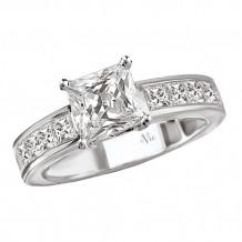 14k White Gold Peg Head Semi-Mount Engagement Ring