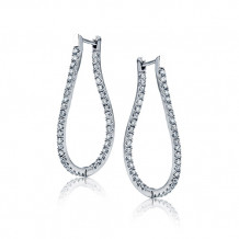 Zeghani 14k White Gold Diamond Earrings