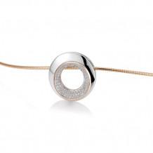 14k Two Tone Gold Breuning Diamond Pendant