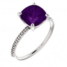 14k White Gold Stuller Amethyst Fashion Ring