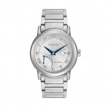 Citizen Eco-Drive Power Reserve Men's White Stainless Steel Watch