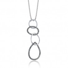 Zeghani 14k White & Black Gold Diamond Pendant