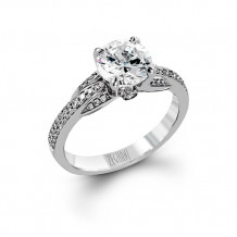 Zeghani 14k White Gold Diamond Engagement Ring