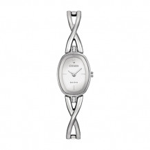 Citizen Silhouette Ladies White Stainless Steel Watch