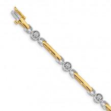 Quality Gold 14k Two-tone AA Diamond Tennis Bracelet - X2017AA