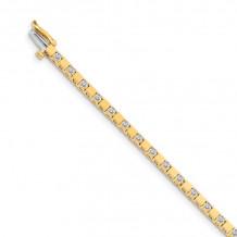 Quality Gold 14k Yellow Gold 2.1mm Diamond Tennis Bracelet - X742