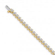 Quality Gold 14k Yellow Gold diamond Tennis Bracelet - X2842