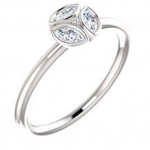 14k White Gold Stuller Diamond Stackable Ring