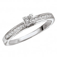 14k White Gold Solitaire Semi-Mount Diamond Engagement Ring