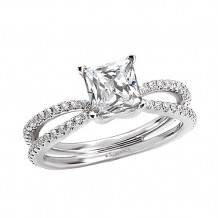 Romance 18k White Gold Semi-Mount Diamond Engagement Ring