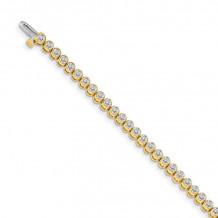 Quality Gold 14k Yellow Gold diamond Tennis Bracelet - X2898