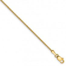 Quality Gold 14k 1.25mm Spiga Chain Anklet - PEN21-10