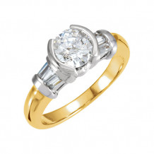 Stuller 14k Two-Tone Gold Engagement Ring