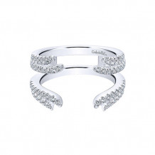 Gabriel & Co 14k White Gold Diamond Jacket Anniversary Band