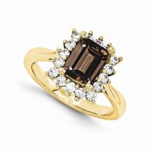 Quality Gold 14K Yellow Gold AAA Diamond Semi-Mount Gemstone Ring