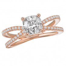 Romance 18k Rose Gold Split Shank Diamond Engagement Ring