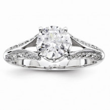 Quality Gold 14k White Gold Semi-Mount Diamond Engagement Ring - Y9216AA