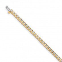 Quality Gold 14k Yellow Gold VS Diamond Tennis Bracelet - X731VS