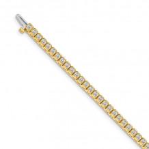 Quality Gold 14k Yellow Gold VS Diamond Tennis Bracelet - X2893VS