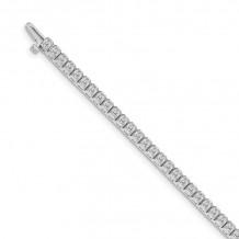Quality Gold 14k White Gold AA Diamond Tennis Bracelet - X2893WAA