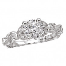 14k White Gold Trellis Semi-Mount Engagement Ring