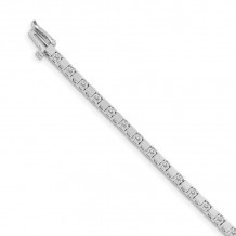 Quality Gold 14k White Gold A Diamond Tennis Bracelet - X742WA