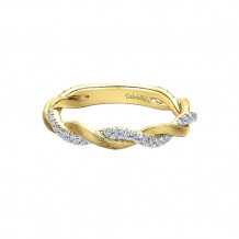 Gabriel & Co. 14k Yellow Gold Diamond Stackable Ladies' Ring