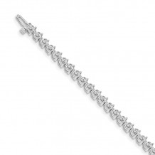 Quality Gold 14k White diamond Tennis Bracelet - X2841W