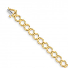 Quality Gold 14k Yellow Gold Add-a-Diamond Tennis Bracelet - X852