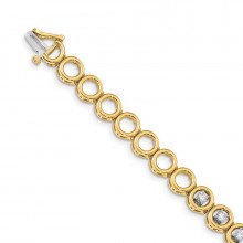 Quality Gold 14k Yellow Gold Add-a-Diamond Tennis Bracelet - X856