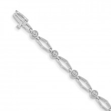 Quality Gold 14k White Gold AA Diamond Tennis Bracelet - X789WAA